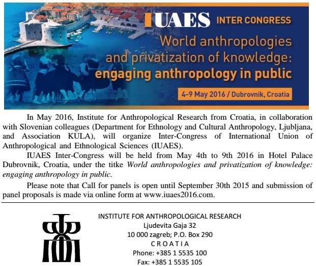 original poster for IUAES being held 5/2016