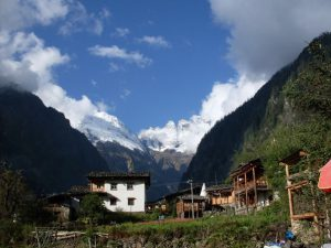 Yubeng Village, Nested in an eastern Himalayan valley, attracted more than 100 visitors daily during its warmer months from May to October, photo by author, 2012.