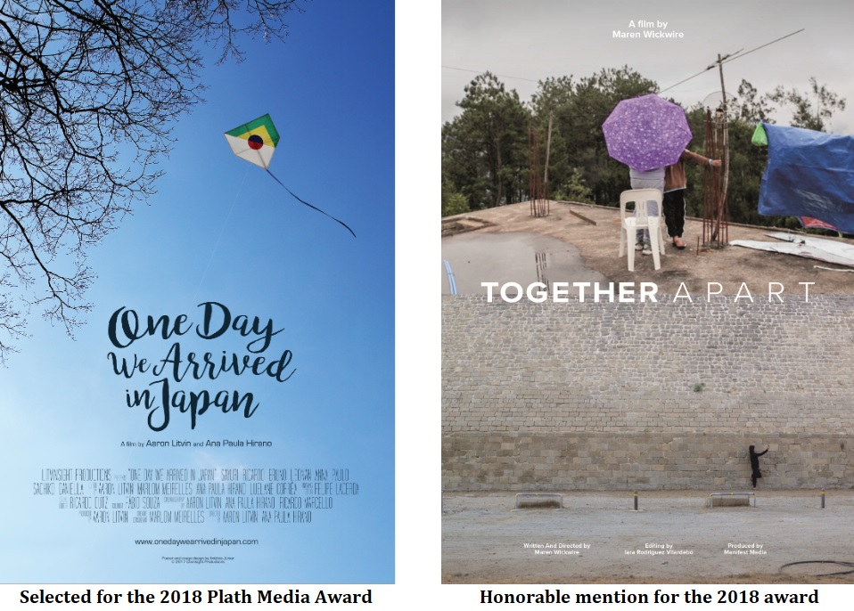 movie posters for 2018 plath media award: the selected title and the honorable mention