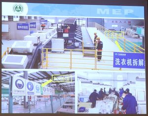 Slide by the Chinese Ministry of Environmental Protection revealing the ideal look of a DEEDs recycling facility. Photo courtesy Yvan Schulz